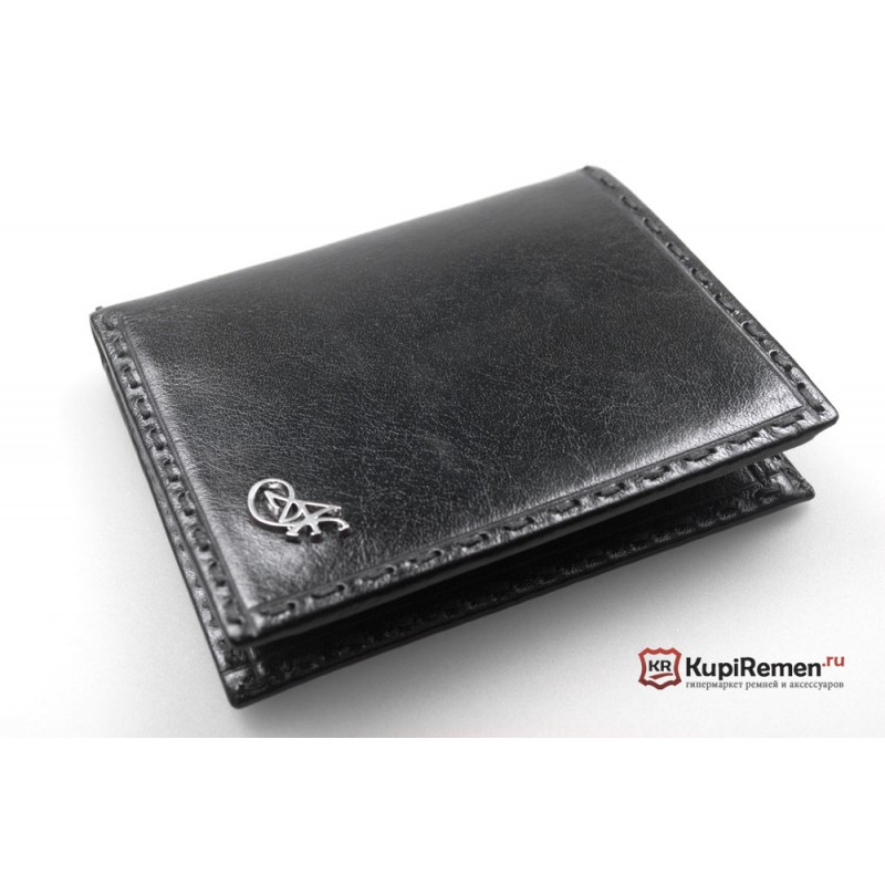 Бумажник мужской Adriano Ferroro кожаный без монетницы коричневый 1136002  - фото 1