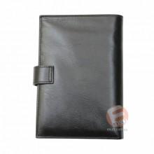 Бумажник мужской TERGAN кожаный с монетницей черный с кнопкой S1CE00001484
