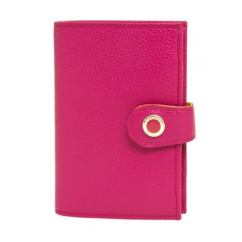 Женский кожанный кошелек Francesco Marconi розовый с автодокументом 63046fl  - фото 1