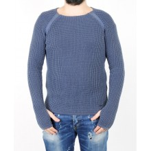 Лонгслив мужской ENRICO BELENO 14814 COTTON ROUND-NECK PULLOVER NAVY BLUE