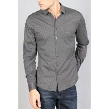 Мужская брендовая рубашка ENRICO BELENO 15898 SHIRT NAVY & YELLOW
