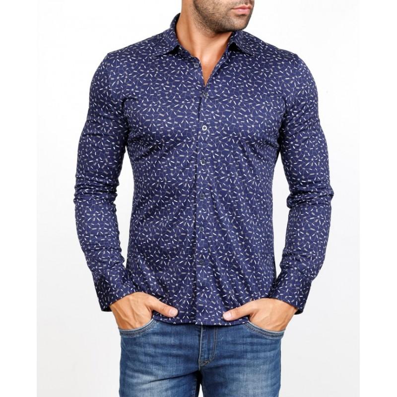 Рубашка мужская ENRICO BELENO 16058 PRINTING MERCERIZED SHIRT  - фото 1