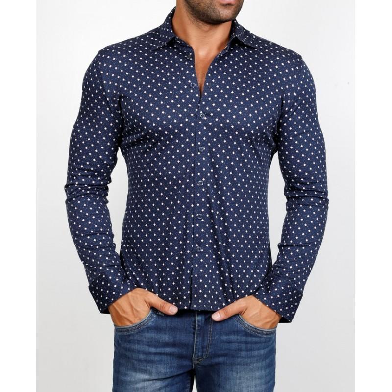 Рубашка мужская ENRICO BELENO 16062 PRINTING MERCERIZED SHIRT BAT  - фото 1