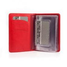 Бумажник водителя из кожи D.MORELLI красный DM-B001-R027