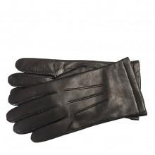 Перчатки мужские ELEGANZZA кожаные черные 100% шерсть подкладка IS133 black