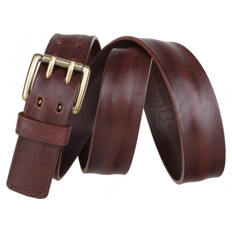 Ремень кожаный MAYER коричневый кэжуал стиль