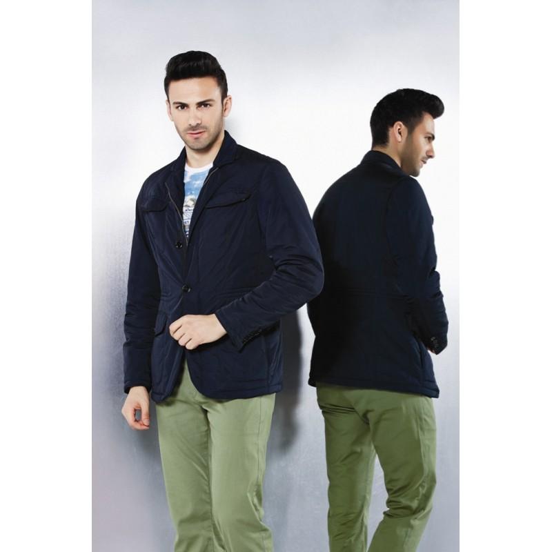Куртка-ветровка ENRICO BELENO синяя классическая под пиджак 4553 OVERCOAT