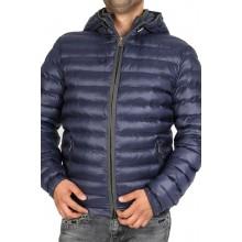 Куртка осенняя ENRICO BELENO синяя стеганая короткая 4572 OVERCOAT