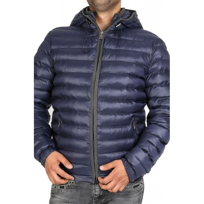 Куртка осенняя ENRICO BELENO синяя стеганая короткая 4572 OVERCOAT  - фото 1