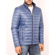 Куртка осенняя ENRICO BELENO синяя 4679 REVERSIBLE POLYESTER OVERCOAT