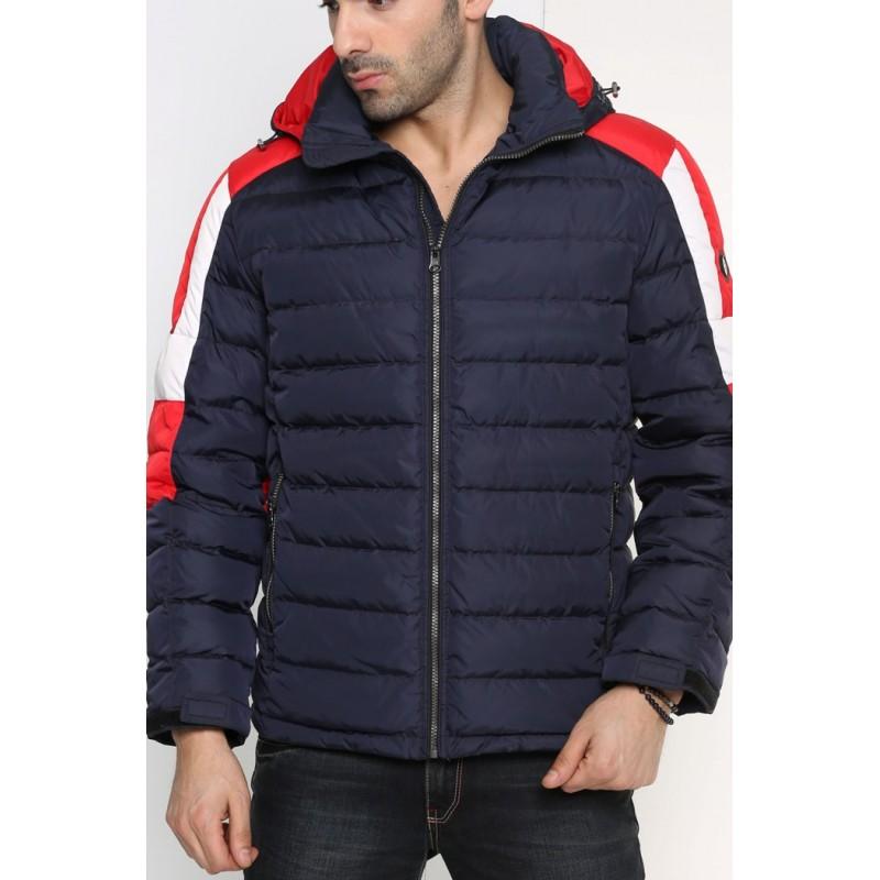 Мужская куртка-пуховик зимняя ENRICO BELENO 4577 OVERCOAT NAVY BLUE A14E51D00015
