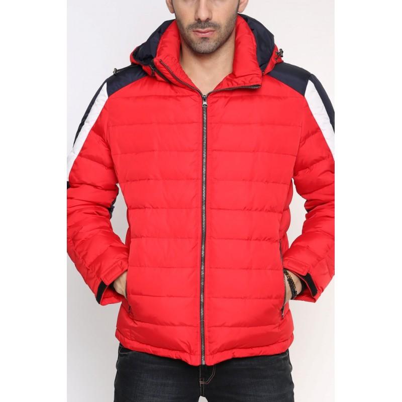 Мужская куртка-пуховик зимняя ENRICO BELENO 4577 OVERCOAT RED A14E51D00015  - фото 1