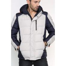 Мужская куртка-пуховик зимняя ENRICO BELENO  4578 OVERCOAT LIGHT GREY A14E51D00017