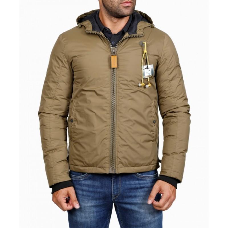 Мужская куртка-пуховик зимняя ENRICO BELENO 4569 POLYESTER DOWN OVERCOAT KHAKI A16E51F00007