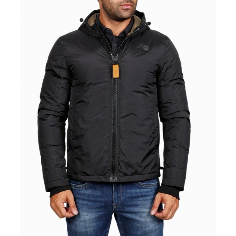Мужская куртка-пуховик зимняя ENRICO BELENO 4569 POLYESTER DOWN OVERCOAT BLACK A16E51F00007