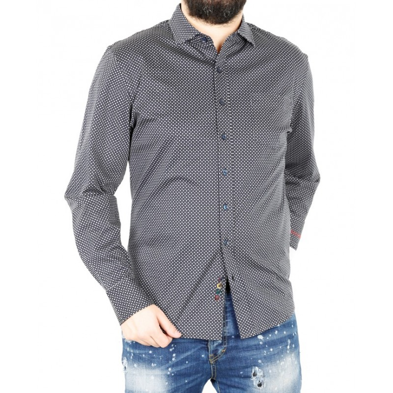 Рубашка мужская ENRICO BELENO 16148 PRINTING POCKET MERCERIZED SHIRT  - фото 1