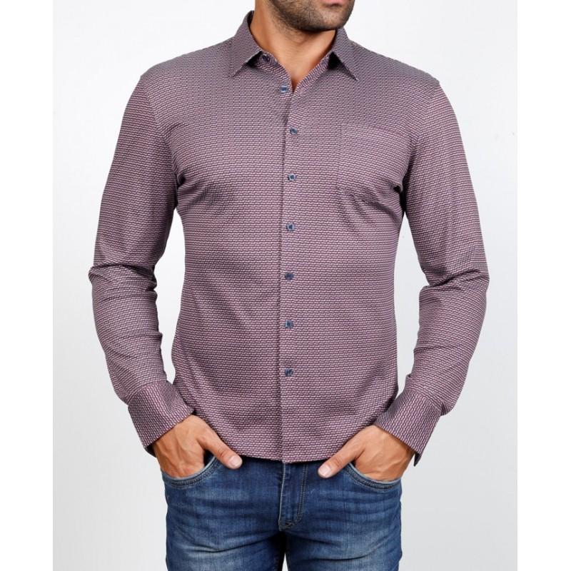 Рубашка мужская ENRICO BELENO  16049 PRINTING MERCERIZED SHIRT