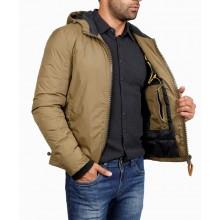 Мужская куртка ENRICO BELENO зимняя 4674 POLYESTER DOWN OVERCOAT KHAKI