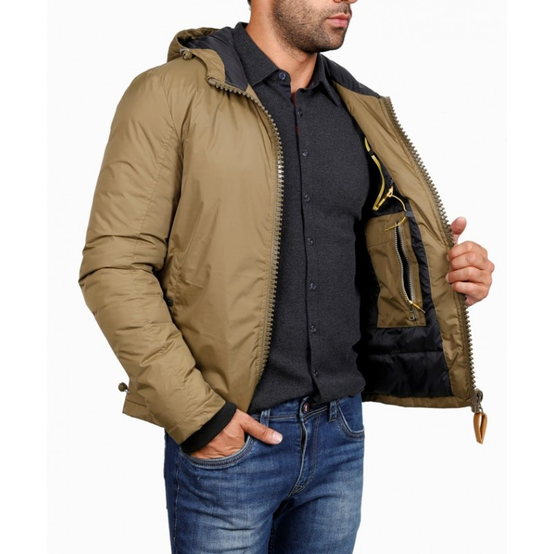 Мужская куртка ENRICO BELENO зимняя 4674 POLYESTER DOWN OVERCOAT KHAKI  - фото 1