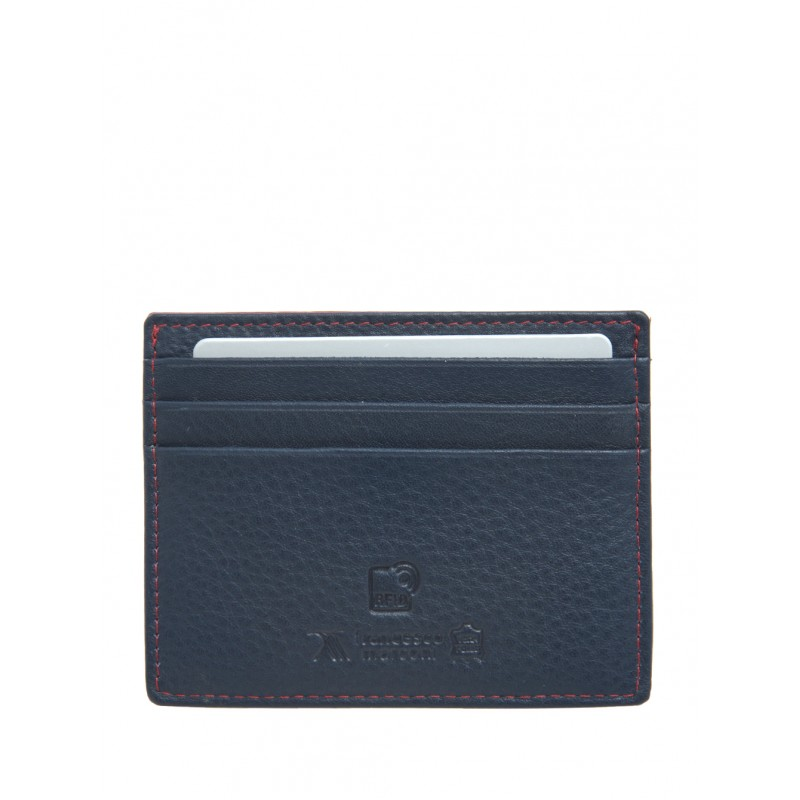 Кредитница Francesco Marconi кожаная 40186ed сине-черная  - фото 1