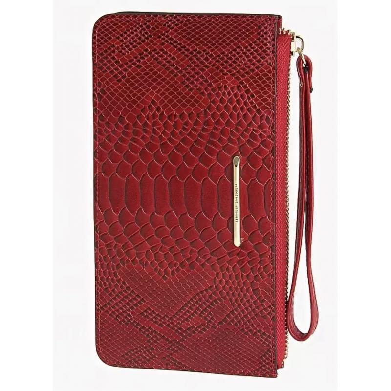 Женский клатч Francesco Marconi красный кожаный 63027sl