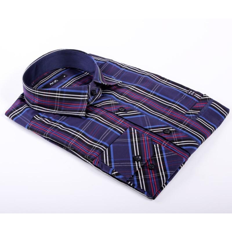 Мужская брендовая рубашка AVVA  A722205 11 LACIVERT DARK BLUE