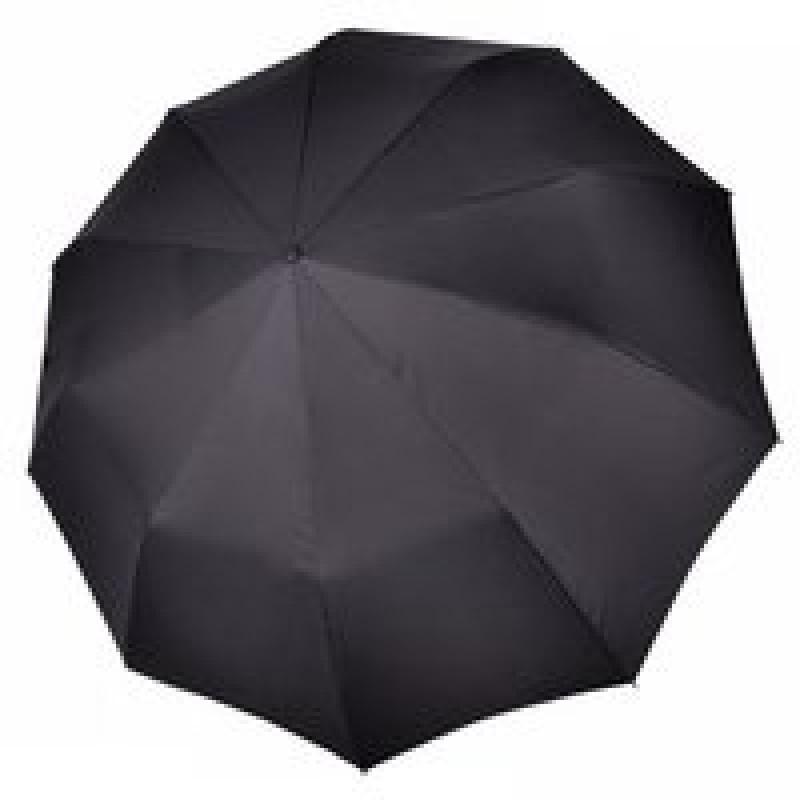 Мужской зонт ТРИ СЛОНА черный классический 3 сложения автомат арт.740