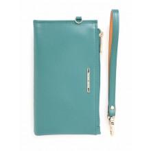 Женский клатч Francesco Marconi зеленый кожаный FM-60563
