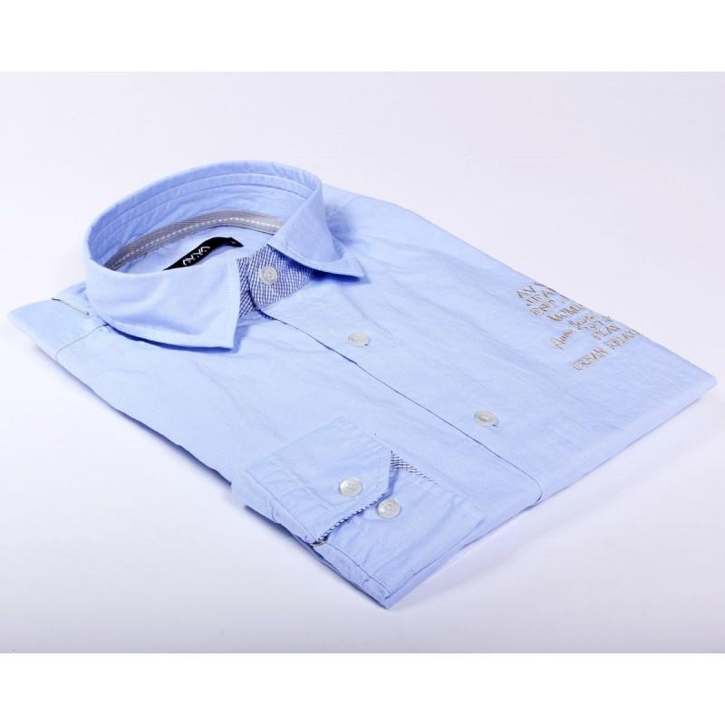 Мужская классическая сорочка AVVA B002225 02 MAVI BLUE