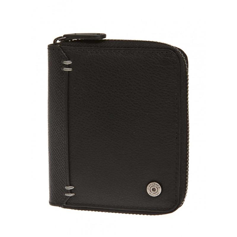 Кожаный кошелек мужской Francesco Marconi черный c замком 30039fa   - фото 1