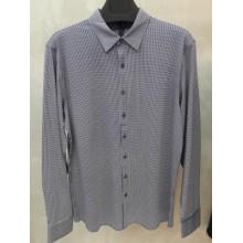 Мужская брендовая рубашка ENRICO BELENO 16218 PRINTING MERCERIZED SHIRT NAVYBLUE & WHITE
