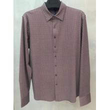 Мужская брендовая рубашка ENRICO BELENO 16223 PRINTING MERCERIZED SHIRT NAVYBLUE & RED
