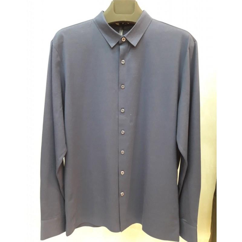 Мужская брендовая сорочка ENRICO BELENO 16244 MERCERIZED SEAMLESS SHIRT NAVY BLUE
