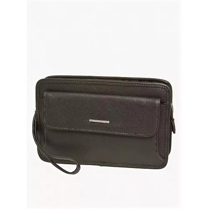 Мужской несессер Francesco Marconi черный кожаный 71129fl