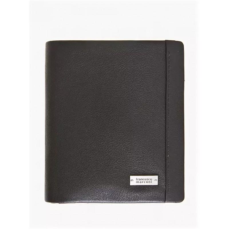 Кожаный кошелек мужской Francesco Marconi черный  30023fa