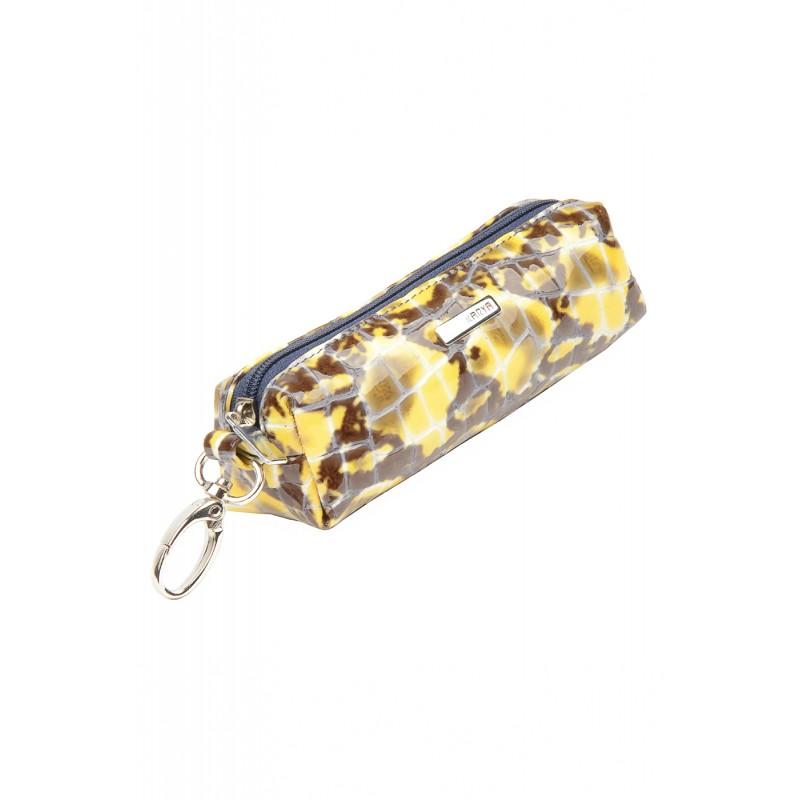Женская ключница кожаная KARYA желтая   - фото 1