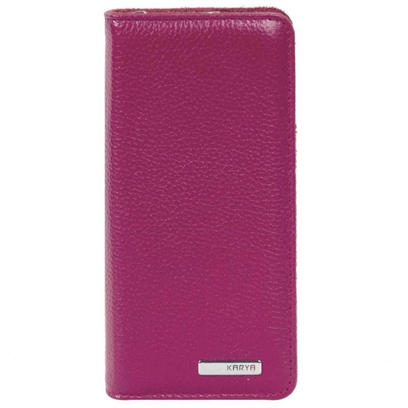 Женская ключница кожаная KARYA розовая 102244  - фото 1