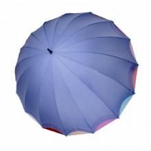 Женский зонт ТРИ СЛОНА 16 спиц цветной трость арт.1100
