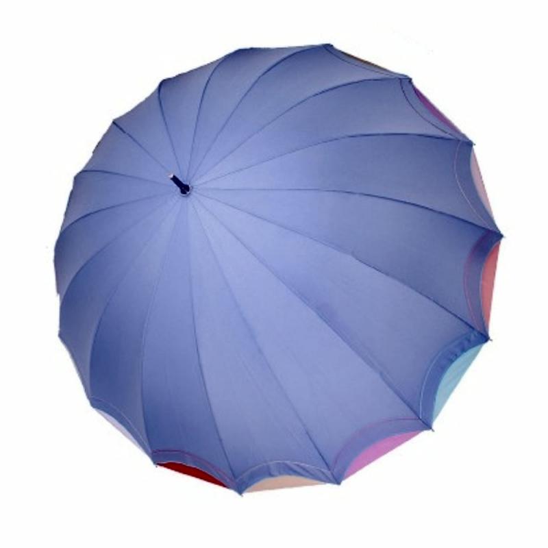 Женский зонт ТРИ СЛОНА 16 спиц цветной трость арт.1100  - фото 1