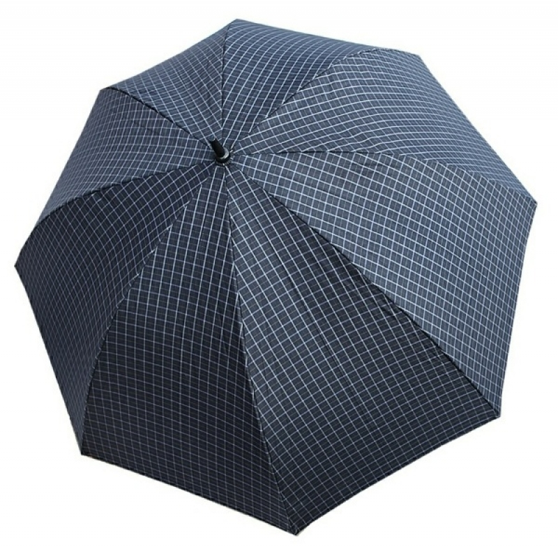 Зонт ТРИ СЛОНА 8 спиц цветной в клетку трость арт.1771  - фото 1