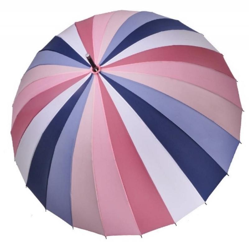 Женский зонт ТРИ СЛОНА 24 спицы цветной трость арт.2400  - фото 1