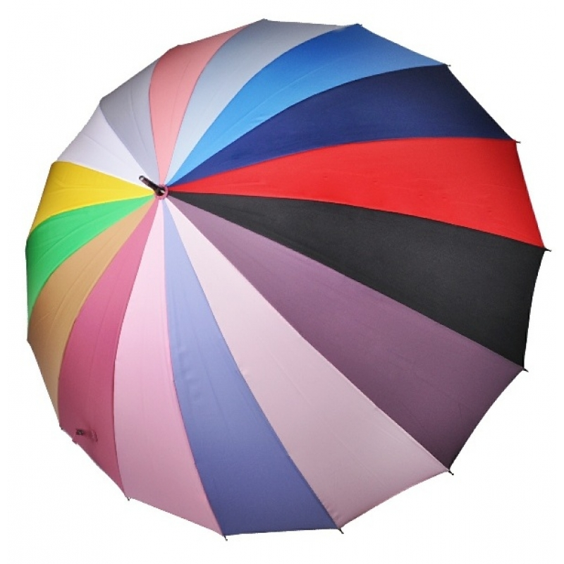 Женский зонт ТРИ СЛОНА 16 спиц цветной трость арт.2450  - фото 1