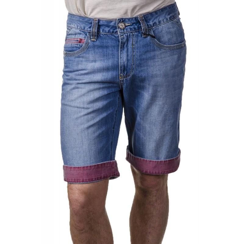 Шорты джинсовые брендовые ENRICO BELENO  7780 MARTIN-2474 LIGHT BLUE  - фото 1