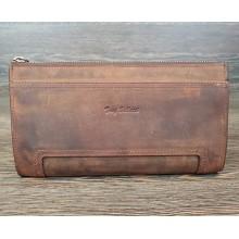 Мужской клатч TONY BELLUCCI коричневый кожаный на замке T-890-06